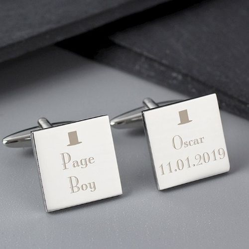 Decorative Wedding Page Boy Cufflinks